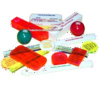 Zertifizierte Prüfkörper (Prüfmittel) für Metallsuchgeräte