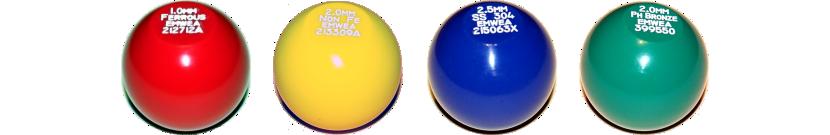 Test balls for metal detectors, POM (Acetal)
