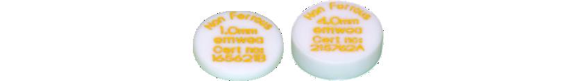 Test discs for metal detectors, PTFE (Teflon®)