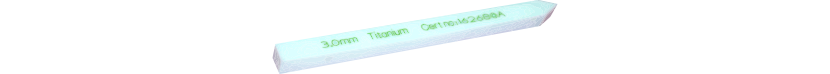 Test pin for metal detectors, PTFE (Teflon®)