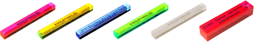 Test sticks for metal detectors, PMMA (Acrylic)