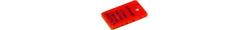 Test tag for metal detectors, PMMA (Acrylic)