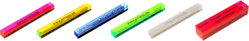 Teststäbe für Metallsuchgeräte aus PMMA (Acryl)